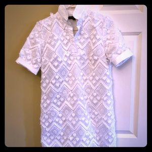 Banana republic polo dress white w/ embellishment